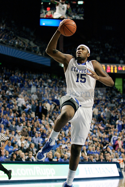 Freshman forward DeMarcus Cousins goes in for a lay up in the first half of the UK vs Hartford game at Rupp arena on Monday, Dec. 29, 2009. Photo by Britney McIntosh | Staff