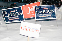 Jim Gilmore - NH Campaign - Campaign Signs - Outside WMUR - Manchester, NH - 8 Feb 2016