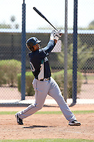 Kalian Sams #30 of the Seattle Mariners plays in a minor league spring training intrasquad game at the Mariners minor league complex on March 27, 2011  in Peoria, Arizona. .Photo by:  Bill Mitchell/Four Seam Images.