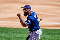 Milwaukee Brewers first baseman Eric Thames (7) during a spring training game against the Los Angeles Dodgers on March 21st, 2017 at Camelback Ranch in Glendale, Arizona.  Milwaukee defeated Los Angeles 5-4. (Brad Krause/Krause Sports Photography)