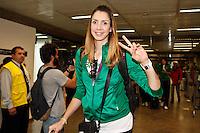 Thaisa jogadoras da seleção brasileira feminina de vôlei, que conquistaram a medalha de ouro nos Jogos Olímpicos de Londres, durante desembarque nesta SEGUNDA-FEIRA (13) no Aeroporto Internacional de Guarulhos, em São Paulo (SP).FOTO ALE VIANNA/BRAZIL PHOTO PRESS