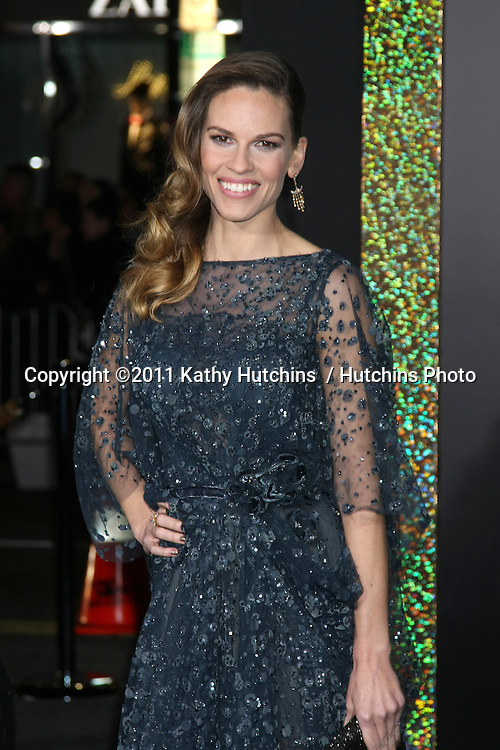"""LOS ANGELES - DEC 5:  Hilary Swank arrives at the """"New Year's Eve"""" World Premiere at Graumans Chinese Theater on December 5, 2011 in Los Angeles, CA"""