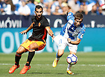 CD Leganes' Alexander Szymanowski (r) and Valencia CF's Martin Montoya during La Liga match. September 25,2016. (ALTERPHOTOS/Acero)