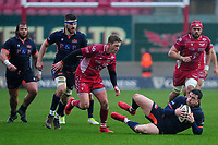 Matt Scott of Edinburgh in action during the Guinness Pro14 Round 11 match between the Scarlets and Edinburgh Rugby at the Parc Y Scarlets in Llanelli, Wales, UK. Saturday 15 February 2020