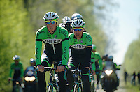 Sep Vanmarcke (BEL/Belkin) in the Bois de Wallers-Arenberg<br /> <br /> 2014 Paris-Roubaix reconnaissance