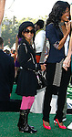"""WESTWOOD, CA. - October 26: Actress Willow Smith and jada Pinkett Smith arrive at the premiere of Dreamworks' """"Madagascar: Escape 2 Africa"""" at the Mann Village Theater on October 26, 2008 in Los Angeles, California."""
