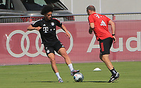 13th July 2020, Sebenersatrsse, Munich, Germany;  New Bayern signing, Leroy Sane FCB and Dr Holger Broich FCB