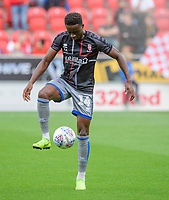 Lincoln City's Jordan Adebayo-Smith during the pre-match warm-up<br /> <br /> Photographer Chris Vaughan/CameraSport<br /> <br /> The EFL Sky Bet Championship - Rotherham United v Lincoln City - Saturday 10th August 2019 - New York Stadium - Rotherham<br /> <br /> World Copyright © 2019 CameraSport. All rights reserved. 43 Linden Ave. Countesthorpe. Leicester. England. LE8 5PG - Tel: +44 (0) 116 277 4147 - admin@camerasport.com - www.camerasport.com