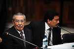 Former Guatemalan dictator, Efrain Rios Montt during the trial starts In the Supreme Court of Justice Guatemala CIty March 19, 2013.