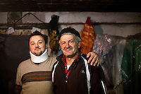 Elvis Causevic with his father Nedzib in the family home. <br /> <br /> In 1992 while volunteering at the Varazdin refugee camp Panos photographer Bjoern Steinz met and became close to Elvis, a Bosnian Muslim refugee, and his family. They shared the hardships of camp life together which Steinz documented. While the prints were archived for many years two of the images always returned to Bjoern's thoughts. 25 years later he set out to try and find out what had happened to Elvis and his family in the intervening years. Modern social media made the task surprisingly easy and they were reunited in Hadzici where Elvis now lives with his family.