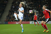Toni Duggan (Manchester City) of England Women during the Women's Friendly match between England Women and Austria Women at stadium:mk, Milton Keynes, England on 10 April 2017. Photo by PRiME Media Images / David Horn.