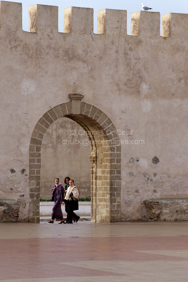 Essaouira, Morocco - Archway, Moroccan Women, Place Moulay El-Hassan.