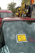Car windscreen with parking ticket, Camden Town, London.