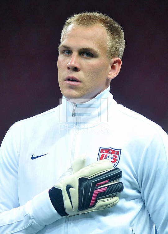 USA U20's goalkeeper Cody Cropper during their FIFA U-20 World Cup Turkey 2013 Group Stage Group A soccer match USA U20 betwen Spain at the Kadir Has stadium in Kayseri on June 21, 2013. Photo by Aykut Akici/isiphotos.com