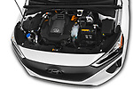Car Stock 2017 Hyundai Ioniq-Electric Electric-Limited 5 Door Hatchback Engine  high angle detail view