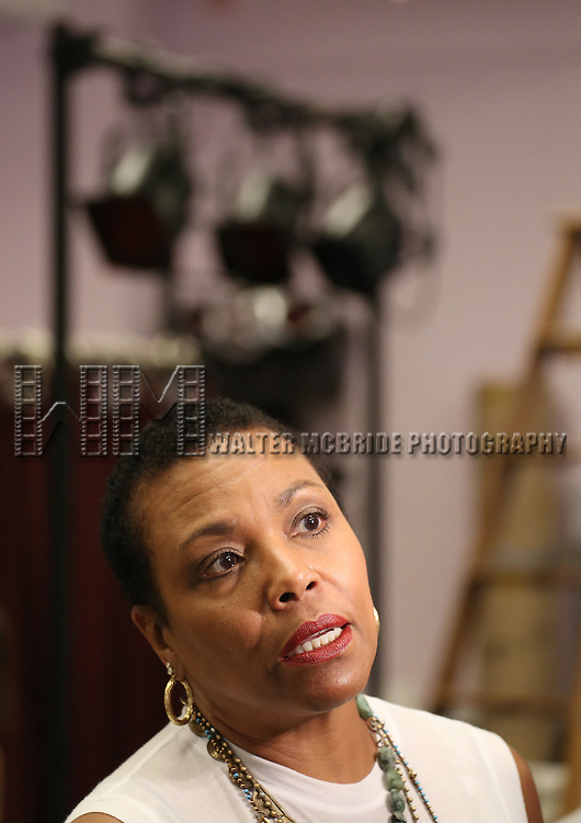 """Dee Dee Bridgewater attending the Meet & Greet for the cast of  """"Lady Day - The Billie Holiday Musical"""" at Ripley Grier Studios in New York City on 8/27/2013"""
