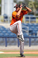 Baltimore Orioles pitcher Zach Fowler #18 during an Instructional League game against the Tampa Bay Rays at Charlotte County Sports Park on October 7, 2011 in Port Charlotte, Florida.  (Mike Janes/Four Seam Images)