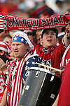 28 May 2006,  U.S. fans.The USA Mens National soccer team defeated Latvia by a score of 1-0 in an international friendly match at Rentschler Field in East Hartford, Connectiticut in their final preparationi for competition at World Cup 2006 in Germany.