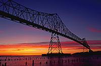 Bridge over the Columbia River at sunset, Astoria, Oregon