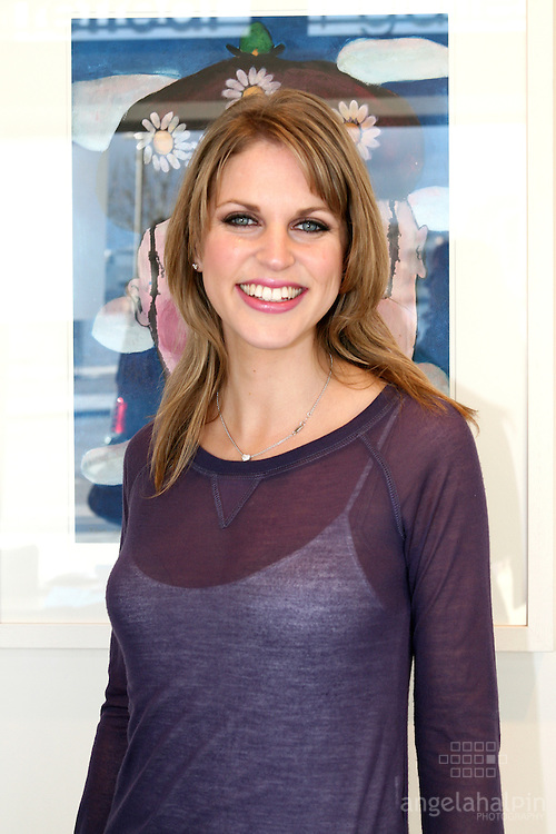 Amy Huberman opening Tom Campbells exhibtion, at Urban Retreat Gallery, Dublin