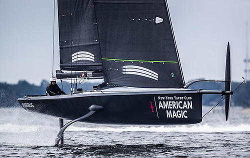 American Magic, the foiling America's Cup challenger uses Quantum Fusion sails