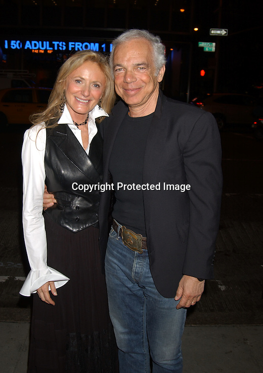 ..Ricky and Ralph Lauren..at  Sinatra: His Voice, His World , His Way, Gala opening night at Radio City Music Hall on October 14, 2003 in New York City. Photo by Robin Platzer, Twin Images