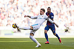 Sergio Ramos of Real Madrid in action during the La Liga 2017-18 match between Real Madrid and FC Barcelona at Santiago Bernabeu Stadium on December 23 2017 in Madrid, Spain. Photo by Diego Gonzalez / Power Sport Images