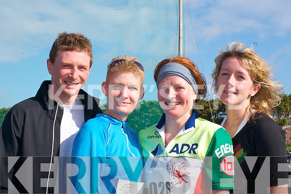 Breda Fitzgerald, Karen McCarthy, Carolann Fitzgerald and Fiola Foley all Killorglin who competed in the Duathlon in Killorglin on Saturday   Copyright Kerry's Eye 2008