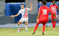 GEORGETOWN, GRAND CAYMAN, CAYMAN ISLANDS - NOVEMBER 19: Alfredo Morales #15 of the United States passes off the ball during a game between Cuba and USMNT at Truman Bodden Sports Complex on November 19, 2019 in Georgetown, Grand Cayman.