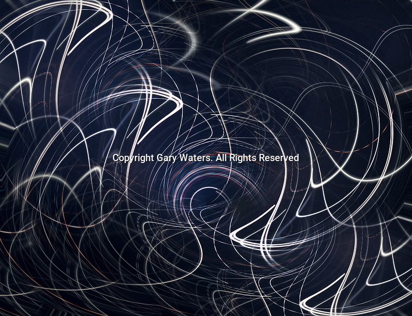 Abstract swirling chaotic light trails