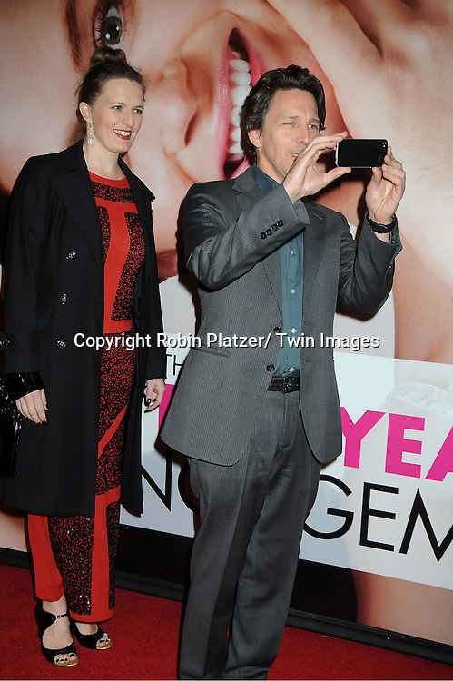 """Andrew McCarthy and guest arrives to The World Premiere of """" The Five-Year Engagement"""" at the opening night of The Tribeca Film Festival at the Ziegfeld Theatre in New York City on .April 18, 2012."""