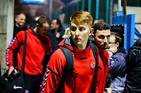 Fleetwood Town's Gerard Garner arrives at Nethermoor Park<br /> <br /> Photographer Alex Dodd/CameraSport<br /> <br /> The Emirates FA Cup Second Round - Guiseley v Fleetwood Town - Monday 3rd December 2018 - Nethermoor Park - Guiseley<br />  <br /> World Copyright © 2018 CameraSport. All rights reserved. 43 Linden Ave. Countesthorpe. Leicester. England. LE8 5PG - Tel: +44 (0) 116 277 4147 - admin@camerasport.com - www.camerasport.com
