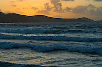 Looking out from the beach at Reef Bay at sunrise.St. John, Virgin Islands National Park