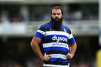 Kane Palma-Newport of Bath Rugby looks on during a break in play. Aviva Premiership match, between Bath Rugby and Newcastle Falcons on September 10, 2016 at the Recreation Ground in Bath, England. Photo by: Patrick Khachfe / Onside Images