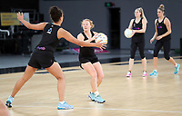 22.09.2018 Silver Ferns Samantha Sinclair in action during Silver Ferns training in Melbourne. Mandatory Photo Credit ©Michael Bradley.