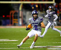 Fayetteville wide receiver Connor Flannigan (2) catches the ball and runs down the field against Rogers Heritage at Gates Stadium, Rogers, AR on November 1, 2019 / Special to NWA Democrat Gazette David Beach