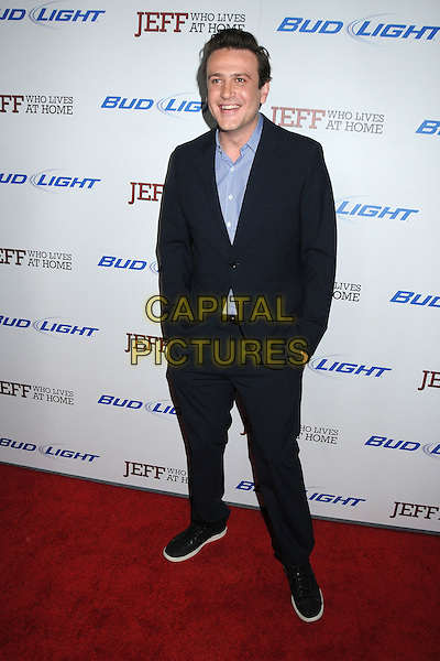 "Jason Segel.""Jeff, Who Lives At Home"" Los Angeles Premiere held at the Directors Guild of America, West Hollywood, California, USA..March 7th, 2012.full length black blue suit shirt.CAP/ADM/BP.©Byron Purvis/AdMedia/Capital Pictures."