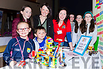 Sally, Fionn, Lucy and Laoise McGillicuddy Killorgln with Tracey Russell and Jessica, Evelyn and Tara Riordan Firies at the Kerry Expo in the INEC on Sunday