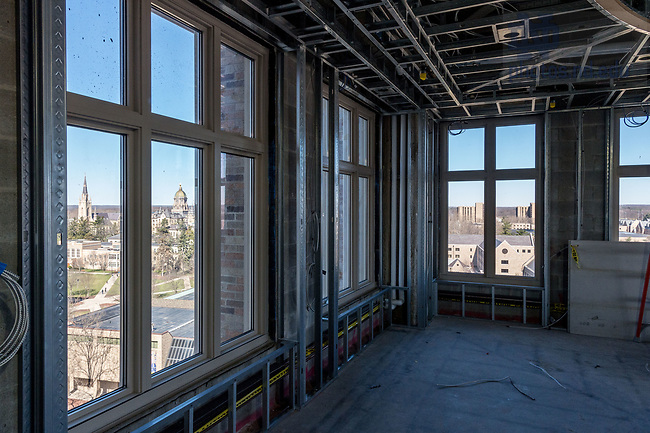 March 8, 2017; Duncan Student Center 8th floor under construction (Photo by Matt Cashore/University of Notre Dame)
