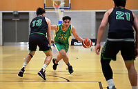 Hutt Valley's Sione Helu in action during  the National Under-23 Basketball Championship men's final between Hutt Valley Wellington and Manawatu at Te Rauparaha Arena in Porirua, New Zealand on Saturday, 10 August 2019. Photo: Dave Lintott / lintottphoto.co.nz