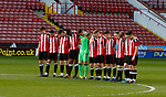 A minutes silence takes place before the match to pay respect to former player Ugo Ehiogu who died age 44 from a heart attack. The U18 Professional Development League 2 play off semi final match at Bramall Lane, Sheffield. Picture date: April 21st 2017. Pic credit should read: Simon Bellis/Sportimage