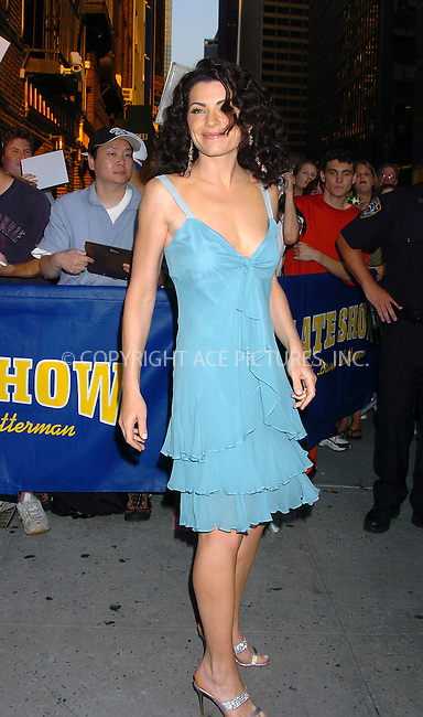 Julianna Margulies making an appearance on 'Letterman Show' New York, July 15, 2004. Please byline: AJ SOKALNER/ACEPIXS.COM   .. *** ***..Ace Pictures, Inc:  ..Contact: Alecsey Boldeskul (646) 267-6913 ..Philip Vaughan (646) 769-0430..e-mail: info@acepixs.com