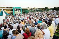 29-6-09, England, London, Wimbledon,  Murray mountain, thousends of spectators watching Murray  match on a giant screen