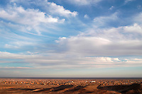 One view of the Saharawi refugee camps is seen on December 15, 2003. Saharawi people have been living at the refugee camps of the Algerian desert named Hamada, or desert of the deserts, for more than 30 years now. Saharawi people have suffered the consecuences of European colonialism and the war against occupation by Moroccan forces. Polisario and Moroccan Army are in conflict since 1975 when Hassan II, Moroccan King in 1975, sent more than 250.000 civilians and soldiers to colonize the Western Sahara when Spain left the country. Since 1991 they are in a peace process without any outcome so far. (Ander Gillenea / Bostok Photo)