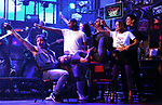 """Mitchell Jarvis and cast during the tech rehearsal for """"Rock of Ages"""" 10th Anniversary Production on June 13, 2019 at the New World Stages in New York City."""