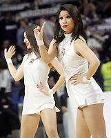 Real Madrid's cheerleaders during Euroleague match.January 22,2015. (ALTERPHOTOS/Acero) /NortePhoto<br /> NortePhoto.com