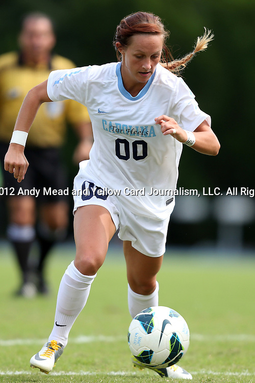30 September 2012: UNC's Alyssa Rich. The University of North Carolina Tar Heels defeated the University of Miami Hurricanes 6-1 at Fetzer Field in Chapel Hill, North Carolina in a 2012 NCAA Division I Women's Soccer game.