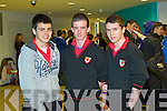 Students from Mean Scoil Nua An Leith Triuigh, Castlegregory, pictured at the IT Tralee Open Day on Friday, from left: James Crean, Jamie Quirke and Shane Scanlon.