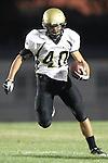 Lawndale, CA 10/01/10 - Jin Matsumoto (Peninsula #40) in action during the Peninsula-Lawndale Varsity football game.