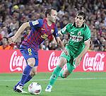 Liga BBVA, jornada 8, Camp Nou, FC Barcelona vence 3-0 al Racing de Santander.